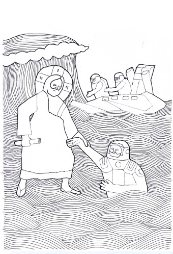 jesus saves a traveller