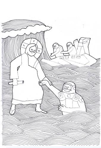 jesus saves a traveller