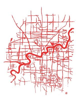 Map of Edmonton