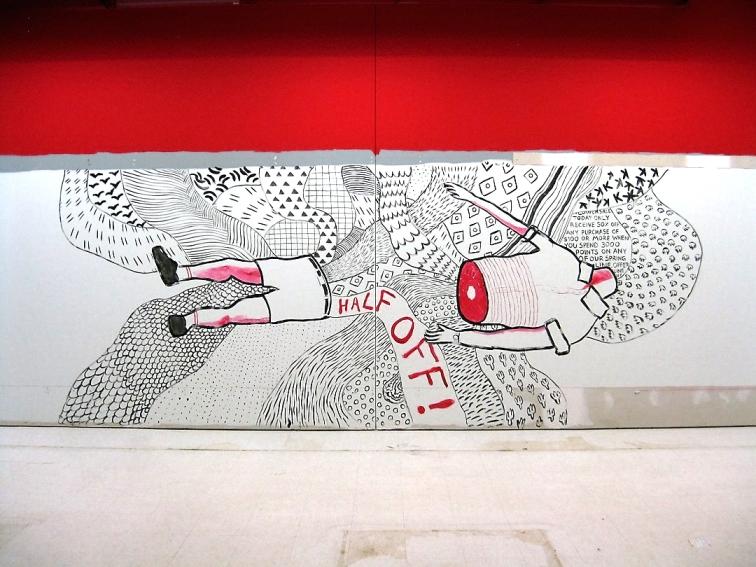 Mural in abandoned Target