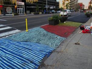 Road mural for Experience Jasper 2017, Edmonton AB.
