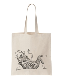 Tote bag illustration for Royal Bison Art and Craft Fair
