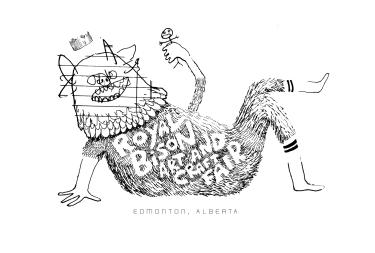 Tote bag illustration for Royal Bison Art and Craft Fair