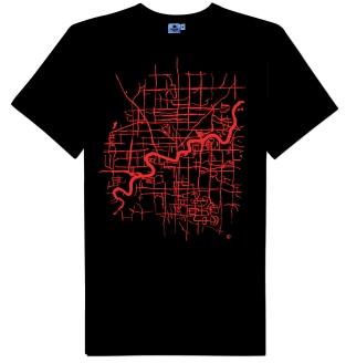 Map of Edmonton T-shirt