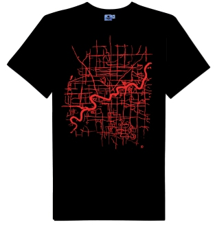 Map of Edmonton T-shirt