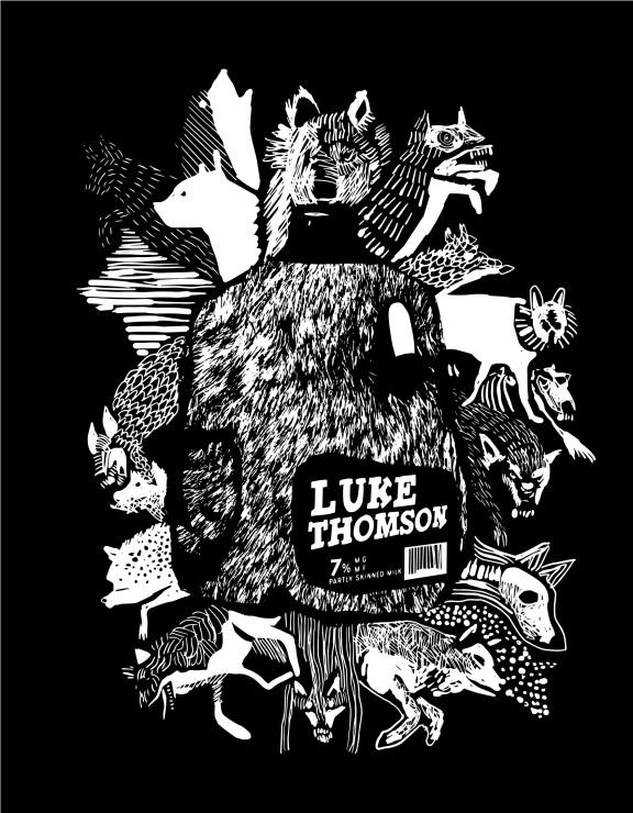 T-shirt design for musician Luke Thomson