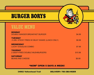 Value menu