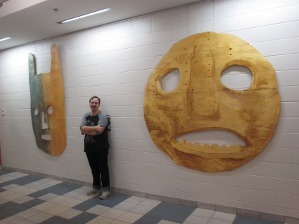 Masks for Giants at YMCA downtown Edmonton. 2019